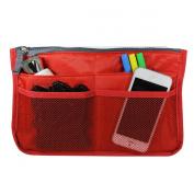 Allydrew Unisex Bag Insert Organiser, Travel Bag Organiser - Red