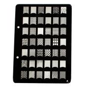 Shari X-Large Nail Art Polish Manicure Stamping Image Plate Template DIY Decorations A