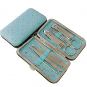 Nsstar Nail Care Personal Manicure & Pedicure Set, Leather Travel & Grooming Kit, Tool Clipper By Binnbox