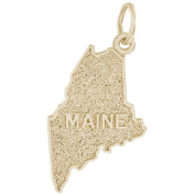 Rembrandt Charms, Maine, Solid Sterling Silver or Gold, Engravable