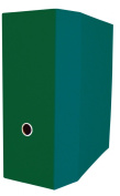 Aurora GB Elements Storage Binder, 13cm D-Ring, 22cm x 28cm Size, Green, Linen Embossed, Eco-Friendly, Recyclable, Made in USA