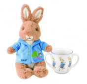 Peter Rabbit Beatrix Potter Baby Gifts Two Handled Mug and Stuffed Animal