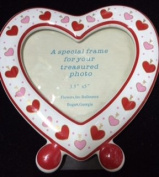 Heart Shape Ceramic Picture Frame 3.5x5