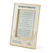 Dicksons Resin Photo Frame, My Special Godparent/White