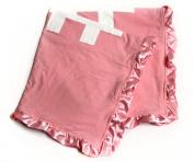 Baby Minky Receiving Blanket - Pink Football