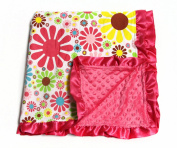 Baby Minky Receiving Blanket - Flower Power