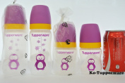 New x4 Tupperware grow with me twinkle Baby bottle penguin with teat 150ml 270ml