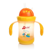 Mumlove Leak Proof Straw Feeding Bottle with Handles Training Cup