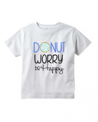 Baby Tee Time Boys' Crew Neck TEE Donut worry be happy funny Shirt