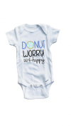 Baby Tee Time Boys' Donut worry be happy funny One piece