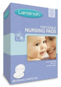 Lansinoh 20265 Disposable Nursing Pads, One box of 60-ct pads [6A16R2X14]