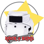Rock-a-Bums 5-in-1 One Size Cloth Nappy Pack-Velcro, White