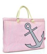 Seer Sucker Anchor Tote Bag