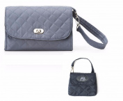 Lillybit Nappy Clutch Bag & Paci Pouch, Quilted