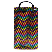Large Hanging Wet Dry Bag for Cloth Nappies or Laundry, Bright Stars