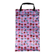 Large Hanging Wet Dry Bag for Cloth Nappies or Laundry, Cupcakes