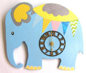HH Baby Boutique Design Nursery Elephant Wall Clock, Nursery Wall Clock, Wall Clock