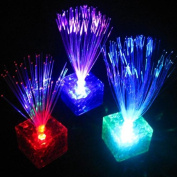 7 Colour Changing Optical Fibre Flashing LED Cube Night Light Lamp by ANTS