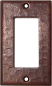 Single Decora Hammered Copper Switch Plate
