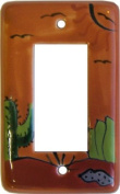 Desert Talavera Single Decora Switch Plate