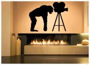 Wall Room Decor Art Vinyl Sticker Mural Decal Video Camera Gorilla Monkey Ape Movie Chimp AS1878