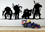 Wall Room Decor Art Vinyl Sticker Mural Decal Turtles Cartoon Tv Show Series Action Movie Heroes Big AS1874