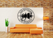 Wall Room Decor Art Vinyl Sticker Mural Decal Los Angeles California Stamp City Country AS1868