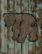 Woodland Collection, 9 x 11.5 Print, Nursery Wall Art Decor, Kid's Art Decor, Gender Neutral Nursery, Nature Themed, Bear,, Woodland Nursery,