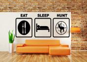 Wall Room Decor Art Vinyl Sticker Mural Decal Eat Sleep Hunt Hunter Deer Buck Funny AS1858