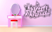 Wall Room Decor Art Vinyl Sticker Mural Decal Angel Graffiti Baby Name Large Nursery Kids Bedroom AS1835