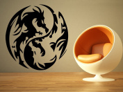 Wall Room Decor Art Vinyl Sticker Mural Decal Ying Yang Dragon Sign Logo Emblem Large AS1836