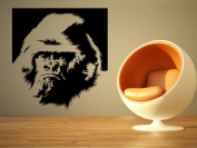 Wall Room Decor Art Vinyl Sticker Mural Decal Jungle Wild Gorilla Head Face Big AS1831