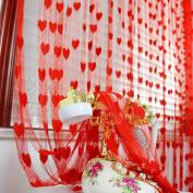 Voberry(tm) Heart Line Tassel String Door Curtain Window Room Divider Curtain 200X100CM