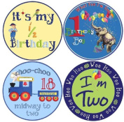 Mumsy Goose Baby Boy Birthday Stickers 6 Months, 1 Year, 2 Year