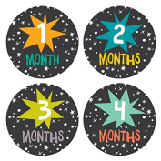 Lucy Darling Baby Monthly Stickers - Gender Neutral - Star Bright - Months 1-12