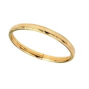 Elegant Baby 14 Karat Gold Bangle Bracelet Perfect for Baby Shower, Christening or Baptism Baby's First Bracelet in Gold Flower