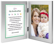 Baptism or Mother's Day Gift for Godmother - Sweet Godchild Poem From Godson or Goddaughter in Double Frame - Add 4x6 Photo