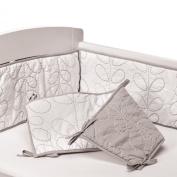 Living Textiles Cotton Poplin Bumper, White/Grey