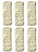 LOVE MY Baby Cloth Nappy 6pcs 4layers Super Water Absorbent Antibacterial Bamboo Inserts