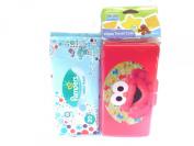 Sesame Street Beginnings Elmo's Baby Wipes Travel Case + Pampers Baby Fresh Wipes Starter Pack Bundled Set Nappy Bag Travel Gift Set