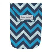 Diapees & Wipees Chevron Blue Baby Nappy and Wipes Bag