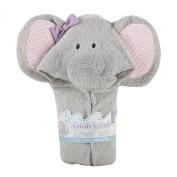 Baby Aspen Splish Splash Elephant Bath Hooded Spa Towel, Grey