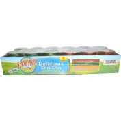 Organic Delicious Din Din Variety Pack, 12 Jars, 120ml (113 g) Each