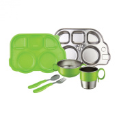 Innobaby Din Smart Stainless Mealtime Set, Green