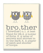 The Kids Room by Stupell Brother and Owl Typography Art Print On Wood