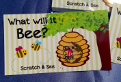Gender Reveal Sex Scratch Off Cards - 'What Will It Bee.' Bumblebee- 10 Cards