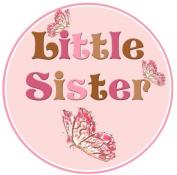 Mumsy Goose Little Sister Birth Announcement Sticker