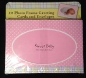 12 Photo Frame BIRTH ANNOUNCEMENT cards & Envelopes