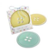 Kate Aspen Cute as A Button Glass Coasters