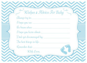 Blue Baby Feet Wishes and Advice for Baby Cards - Baby Shower Activity/Game